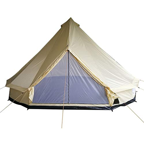 Outsunny 16' 10-Person Waterproof Camping Tent Yurt with Unique Style, Spacious Interior, & Breathable Waterproof Design