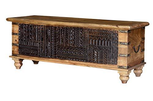 GINER Y COLOMER Baúles Decorativos - Baúl Madera Negro (45x116x40)