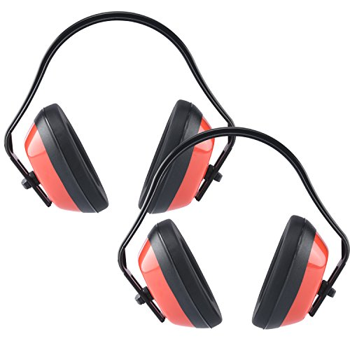 Neiko 53925A Adjustable Safety Ear Muffs   ANSI S3.19-1974 Approved, NRR 26 dB   2 Pack