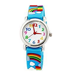 top 10 nice kids watches Children's clocks for boys and girls, digital analog watches, cute 3D waterproof toddler clocks …