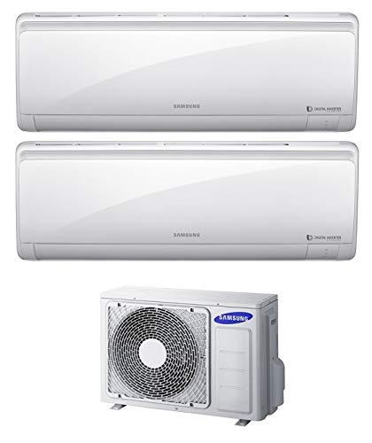 Samsung Serie Maldives - Condizionatore 9000+9000 Btu, Dual Split Inverter, Classe A++/A+, Gas, R410