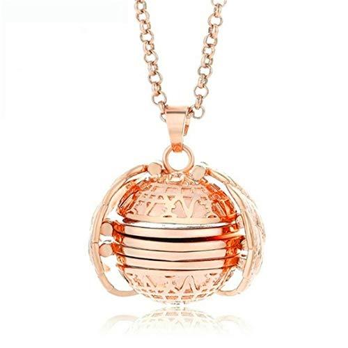 TXSD Multi-Layer Photo Locket Necklace Creative Openable Item Box Pendant Collar Jewelry Accessories Precious Gift (Rose Gold)