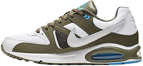 Nike Air MAX Command, Zapatillas de Running para Asfalto para Hombre, Multicolor (White/Pure Platinum/Medium Olive 109), 42 EU