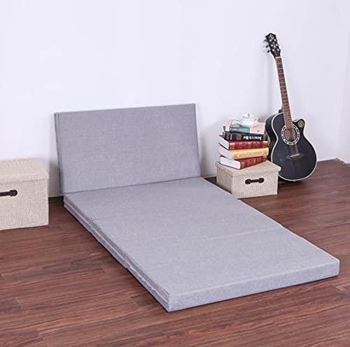Diumy Colchón Plegable de 4 direcciones, colchón Sponge Z para Adultos y niños, cómodo con una Funda extraíble con Cremallera Almohadillas de colchón para futón-Yo 90x190cm(35x75inch)