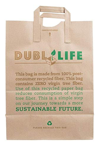 Duro ID# 45003 1/6 Ez Karry Up 70# 100% Recycled Natural Kraft 300pk 12 x 7 x 17