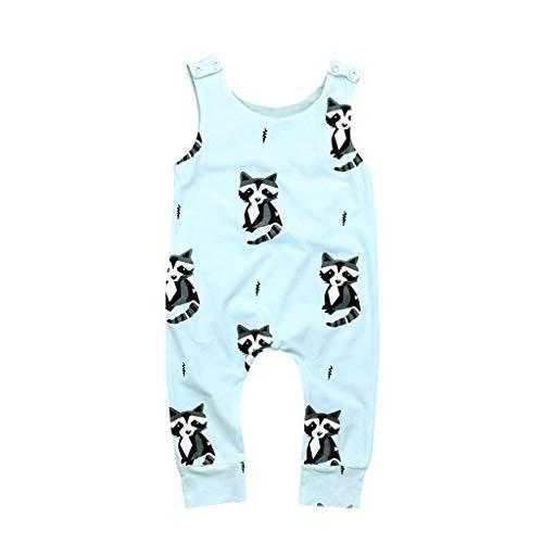 Julhold Säugling Kleinkinder Baby Kindermodus Lässig Ärmellos Tiere Gedruckt Lose Strampler Outfits Kleidung 0-24 Monate