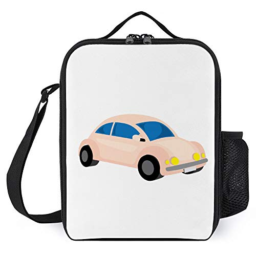 Lunch Box for Kids Lunch Bags with Bottle Holder for Women Men Vintage Car Fashion Insulated Lunchbox Large Reusable Meal Prep Bag for Work School Picnic