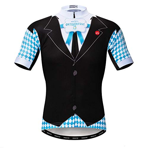 Weimostar Radfahren Jersey Herren Radfahren Kleidung Fahrrad Jersey Top Mountain Road MTB Jersey Shirt Kurzarm Atmungsaktive Team Sport Deutschland Schwarz Größe XL