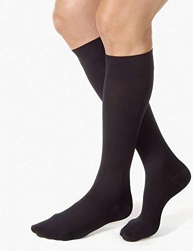 JOBST Calcetines de compresión 20 a 30 mmHg, punta cerrada, negro, tamaño grande