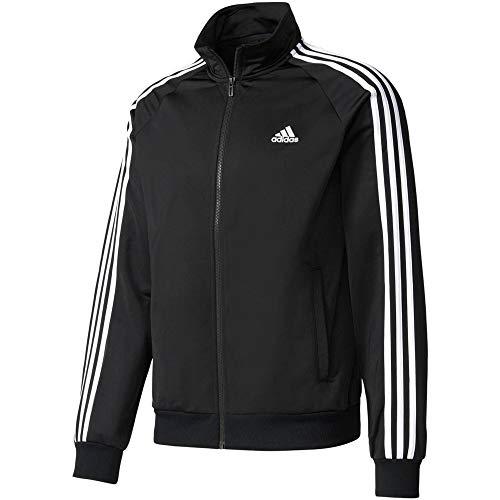 adidas Herren Jacke Essentials 3-Stripes Tricot Track, Black/White, L, BR1024