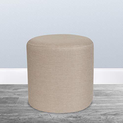 Flash Furniture Barrington Upholstered Round Ottoman Pouf