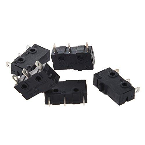 SODIAL(R) 5 x Micro Interruptor Momentaneo 3-Terminal SPDT 1NO 1NC 3A/250VCA 5A/125CA