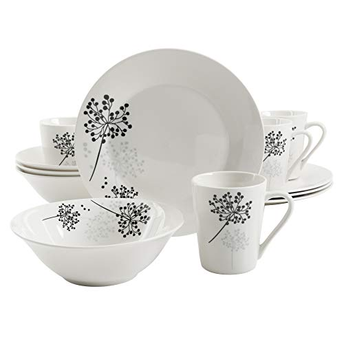 Gibson Home Netherwood 12-Piece Dinnerware Set, White