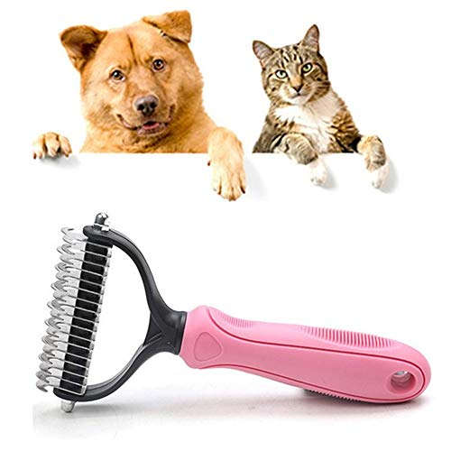 Bvnivcxzem Dog Brushes for Grooming Short Hair Flea Comb Back Combing Brushes Cat Flea Comb Flea Combs for Cats Dog Brush for Grooming Large Dog Grooming Tools Pink