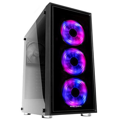 La MC7 es una caja gaming de nueva generación con 3 ventiladores frontales RGB de 120mm controlables a través de infrarrojos Su diseño optimizado para refrigeración líquida es compatible con radiadores de hasta 360mm en la parte frontal. Gracias a su...