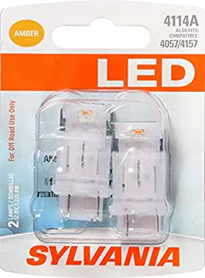 SYLVANIA 4114 Red LED Bulb (Pack of 2)
