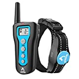 PATPET Dog Training Collar Rechargeable Dog Shock Collar with Remote for Small Large Dogs Breed with Beep, Vibration Models, Up to 1200 Ft Remote Range, IPX7 Waterproof Electric Bark Collar for Dogs