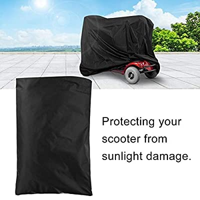 Mobility Scooter Cover, Waterproof Wheelchair & Scooter Storage Protective Cover for Disability Scooters Outdoor Rain Protection, 170 x 61 x 117cm