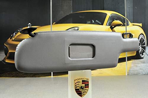 NEU Porsche 928 Sonnenblende mit Spiegel Leder Klassikgrau LINKS/Sun visor