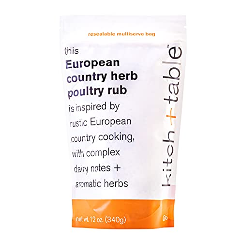 Kitch+Table Gourmet European Country Herb Poultry Rub & Seasoning, 12 Oz - 130 Servings