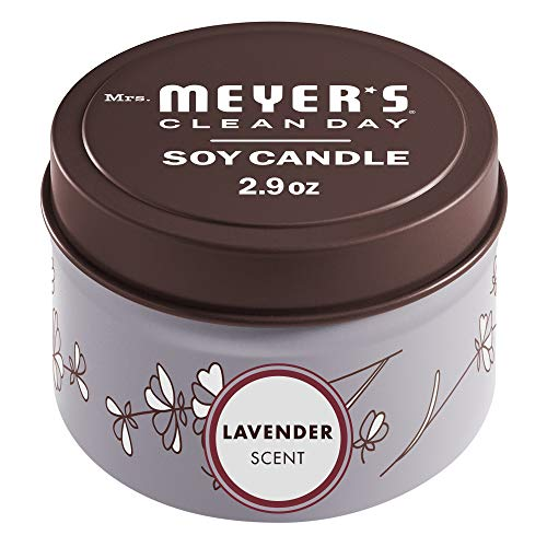 Mrs. Meyer's Clean Day Scented Soy Tin Candle with essential oils, Lavender Scented, 2.9 oz