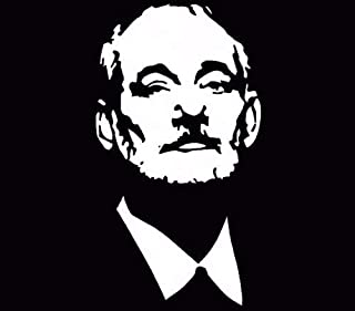 Bill Murray Outline Face Figure Car Vinyl Window Decal Truck White, Die Cut Vinyl Decal for Windows, Cars, Trucks, Tool Boxes, laptops, MacBook - virtually Any Hard, Smooth Surface