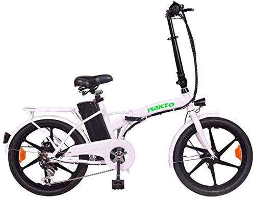 Bicicleta de montaña eléctrica de nieve, bicicleta eléctrica plegable para adultos, 36 V, 350 W, 10 Ah, batería de iones de litio extraíble para ciudad, batería de litio para adultos