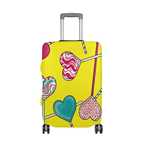 MyDaily Herzförmige Lollipop Candy Gepäckabdeckung passend für 45,7-81,3 cm Koffer, Spandex Reiseschutz
