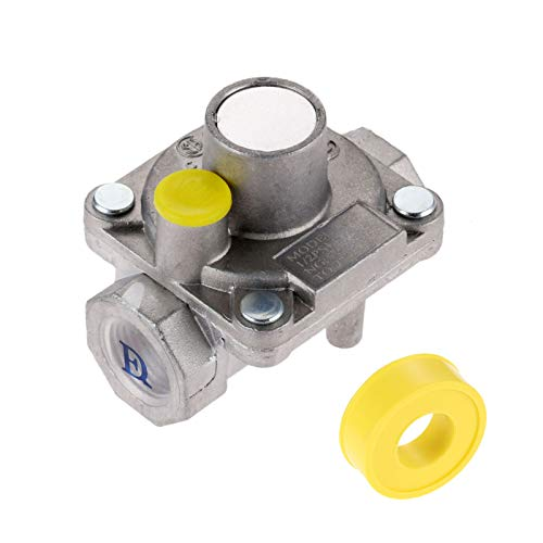 """Aupoko 3/8"""" Gas Regulator, Natural Gas Grill Low Pressure Regulator, 3/8"""" -18 NPT Natural Gas Pressure Regulator, Fits for NG Gas NPT Natural Gas Low Pressure Regulator with Gas Line Pipe Thread Tape"""