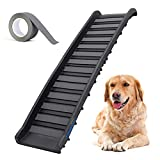 Ruedamann 62 Inches Foldable Pet Ramp Lightweight Portable Folding Ladder for Cars, Trucks and SUVs, Holds up to 150 lbs (BODA02FR)