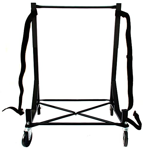 Premium Heavy-duty Hardtop Stand Storage Cart with 5 inch Diameter Castors, Securing Strap and Extra-large Size Generic Hard Top Dust Cover