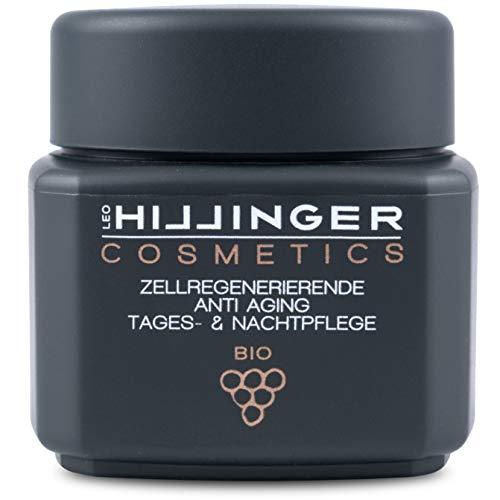HILLINGER COSMETICS - Bio Anti-Aging-Creme für Tag & Nacht aus der Kraft der Weintraube - vegane, zellregenerierende & feuchtigkeitsspendene Anti-Falten-Creme mit natürlichem Hyaluron & Resveratrol