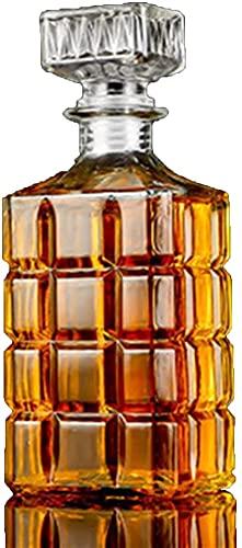 Sencillez Botella De Vino Decanter Glass 500ML / 800ML Cerveza Whisky Red Wine Licor Party Home Kitchen Restaurant Bar CHENGYI (Color : E)