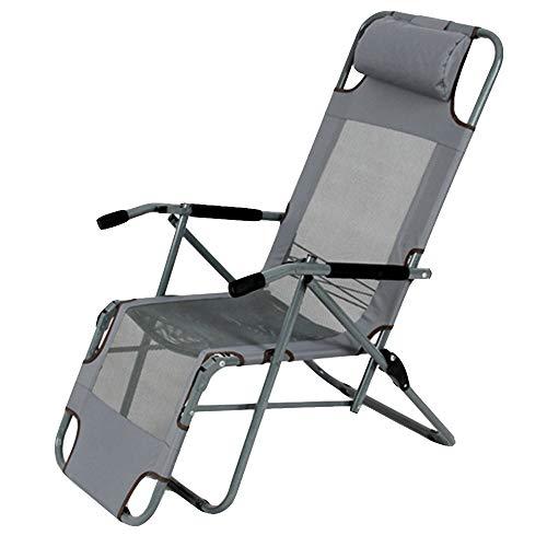 Axdwfd Chaise longue Chaise longue, chaise pliante Balcon Pause déjeuner Chaise de bureau Chaise d'été Chaise Siesta Chaise Chaise de plage Chaise longue 45 * 42 * 100 cm (Couleur : Gray)