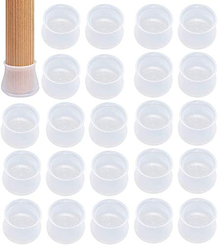 Protezione per Piedi Sedia, 36 pezzi, in silicone, antiscivolo, per proteggere il pavimento, previene graffi e rumori per la casa, Soggiorno, Camera da Letto, Cucina
