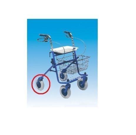 2 Stück PU-Ersatzräder für Rollator oder Gehwagen