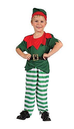Bristol Novelty CC072 - Costume da Babbo Natale per bambino, taglia XS, colore: Bianco