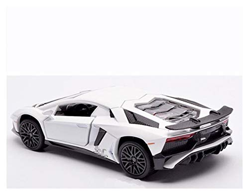 Diecast Vehicle for Lamborghini for Aventador 1:32 Alloy Toy Model Boy Gift Simulation Metal Car Sound and Light Pull Back Sports Car Toy for Kids Boys Girls Gift (Color : White)