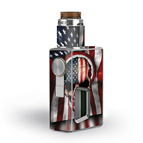 Skin Decal Vinyl Wrap for GeekVape Athena Squonk Kit Vape Kit skins stickers cover / America Skull Military USA Murica