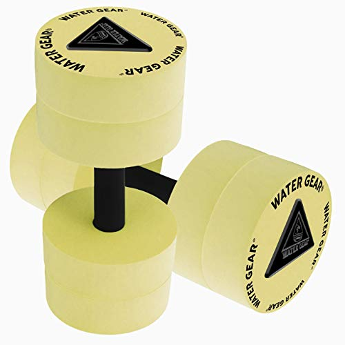 Water Gear Resistance Bells - Water Fitness and Pool Exercise - Intense Workout Without Added Stress - Easy on Joints (Yellow, 60% Resistance)