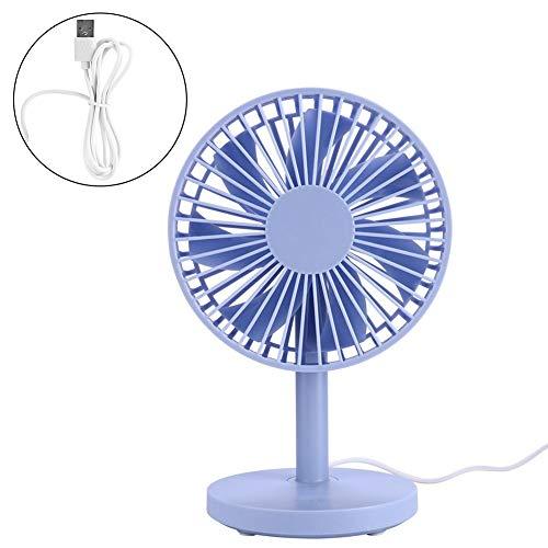 eecoo USB-desktopventilator, draagbare mini-stille elektrische ventilator, 7 vleugels, 30 ° draaibaar, drietraps instelling, geschikt voor woonwoningen, kantoren en studentenhuizen