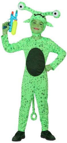 Atosa-16086 Disfraz Alien, color verde, 3 a 4 aos (16086)