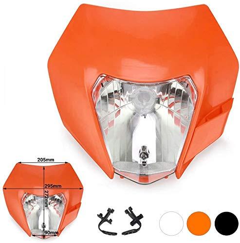 JFG RACING Naranja Universal S2 12 V 35 W Faros halógenos de Motocicleta luz de carenado para K.T.M EXC250 SX250 SXF250 EXC450 SX350 SXF450 EXC525 640LC4