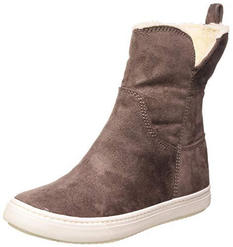 Roxy Damen Bellamy - Winter Boots for Women Schlupfstiefel, Grau (Charcoal Chr), 42 EU