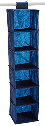 Home Creations innovant 48 x 11 x 28 cm 6 Cases Fil et Craft Organisateur, Bleu Marine