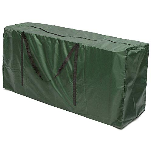 Garden Furniture Cushion Storage Bag Outdoor Waterproof Patio Furniture Pad Large Bag Dust Resistant Lightweight Heavy Duty 600D Material with handle (L(173 x 76 x 51cm))