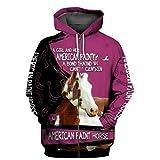Felpa con Cappuccio Stampata 3D da Uomo Pure Horse con Cappuccio Harajuku Zip Streetwear Casual Zip hoodies2 M