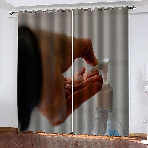 zpangg Verdunkelungsvorhang Kräuselband Duschgel Mit Ösen Gardine Für Schlafzimmer, Kinderzimmer 2 Stück Verdunkelungsvorhänge Farbige Vorhänge 150×166Cm