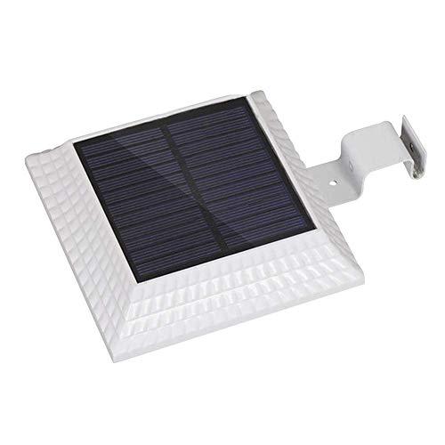 Buitenverlichting op zonne-energie, met lichtsensor, IP44, waterdicht, regengoot, nachtverlichting voor camping, reis, tuin, veranda, met 12 superheldere leds