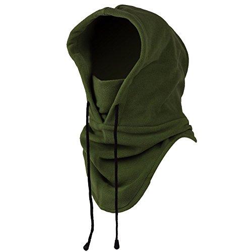 iMixCity 6 in 1 Winddichte Vollgesichtsmaske Unisex Tactical Heavyweight Sturmhaube Gesichtsmaske/Skimaske/Hooded Kopfhaube für Sport und Outdoor